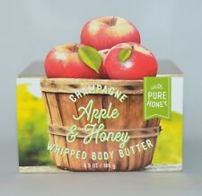 BATH & BODY WORKS CHAMPAGNE APPLE HONEY WHIPPED BUTTER PURE HONEY LOTION 6.5 OZ