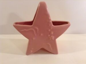 Vintage Abingdon USA 463 Pink Star Art Pottery Planter Cloud Vase Pink VGC