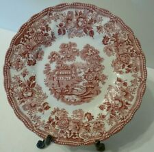 """Royal Staffordshire Franciscan TONQUIN RED PINK Bread & Butter Plate 6.5"""" T7"""