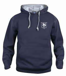 Preston North End 1940-1960s Retro Football Hoodie Embroidered Crest S-XXXL