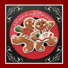 Gingerbread Man Cookie Christmas Tree Ornament - Made For Each Other -