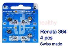 Renata SR621SW 364 Silver Oxide coin Battery x 4 pcs FREE Post