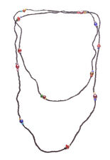 Splendid & Minimalist Coral Black Bead & MultiColour Stone Long Necklace(Zx93)