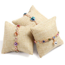 NEW Beige Linen Small pillow for Bracelet Watch jewelry display Best Quality