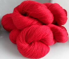 500g of RED 100% PURE LAMBSWOOL KNITTING WOOL, 5 SKEINS (CW-1527)