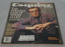 Esquire April 1987 Magazine Woody Allen Ronald Reagan Baseball's Bat Pack