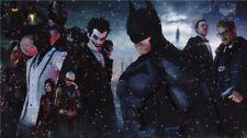 "Batman Arkham Origins City Asylum The Joker Harley Quinn Game Poster 24""x13"" 063"