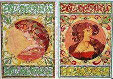 Decoupage Papier Bogen 2 Antike Frauenmotive 50 x 70 cm  90503