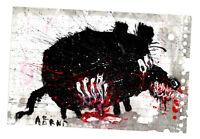 """Original JUSTIN AERNI circa 2021 PAINTING dark art macabre : """"DEAD RAT 1"""""""