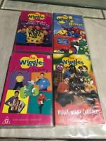 THE WIGGLES  x 4 VHS VIDEO PAL~ RARE FIND