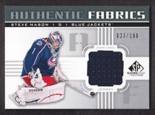 2011-12 SP Game Used Authentic Fabrics Jersey #AF-SM Steve Mason 023/100