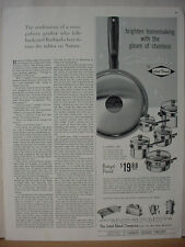 1962 West Bend Utensil Set Pots and Pans Kitchen Cookware Vintage Print Ad 10608