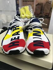 NEW PHARRELL WILLIAMS BBC ADIDAS HU NMD HEART MIND WHITE NAVY RED SIZE 8 1/2