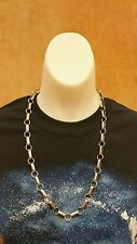 "Native Southwestern Sterling Silver Navajo Chain Necklace - 24"" - 5 Low Dome"