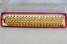 Jewels by Francois Gold Tone Leaflet Bracelet with box