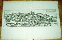 Marburg alte Ansicht Braun Hogenberg Bannstadt 1940 Städteansicht Sachsen Druck