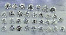 mixed round brilliant cut diamonds D-H I1-I3 4.61ct natural loose diamonds