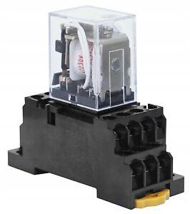 Relais 4XUM 5A 14PIN 230V AC Sockel Stecksockel Hutschienen Spulenspannung Set