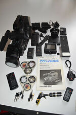 Videocamera Sony hi8 ccd-v6000e + ORIG. VALIGIA + ACCESSORI Pacchetto