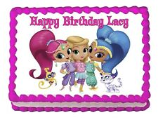 Shimmer and Shine cast party decoration edible cake image cake topper