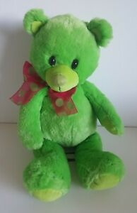 "First & Main GREEN Plush 16"" Teddy Bear Stuffed Animal"