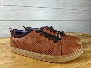Vintage Tommy Hilfiger Brown Leather Lace Up Shoes 77806 Boys Youth Sz 5 NEW