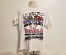 NY Yankees Mets 2000 Subway Series World Series Champions Adult White XL T-Shirt