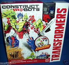 TRANSFORMERS  construct bots Target Exclusive OPTIMUS PRIME & GRIMOCK new