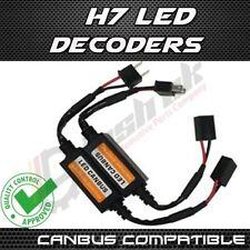 2x H7 LED Faros Canbus Libre De Error Resistencias de decodificador anti parpadeo de advertencia