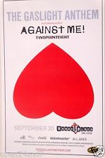 GASLIGHT ANTHEM / AGAINST ME! 2014 SAN DIEGO CONCERT TOUR POSTER - Punk Music