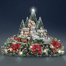 Thomas Kinkade Animated Christmas Village Sculpture Table Centerpiece NEW