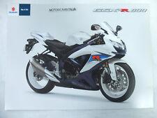 Moto Suzuki gsx-r 600 gsx r pubblicita brochure depliant motorcycles prospect