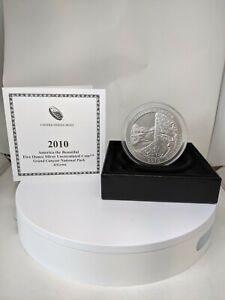 2010-P America The Beautiful GRAND CANYON 5OZT Silver Uncirculated Coin W/ OGP