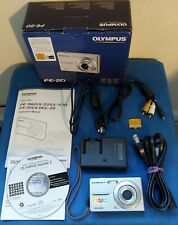 Olympus FE-20  Digital Camera 8.0MP, Silver, Complete Kit in Box, Works Great!