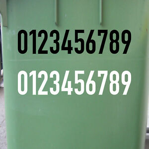 8cm DIN1451 Your Desired Text Choice No Sticker House Number Tattoo