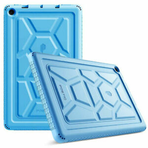 Poetic Kids Friendly Silicone Case For Amazon Fire HD 10 2019 Tablet Cover Blue
