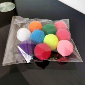 10PCS Cat Chew Supplies Dog Play Chewing Rattle Scratch Ball Kitten Ball Cat Toy