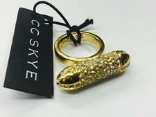 CC Skye 18K Gold Plated Shwayze Pave Crystal Bullet Women's Ring Size 6 NWT