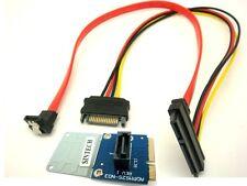"""2.5/3.5"""" SATA SSD HDD to mini SATA mSATA Adapter card+SATA 7+15pin power cable"""