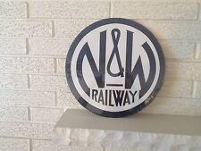 Norfolk & Western Railway Round Logo Aluminum Sign New