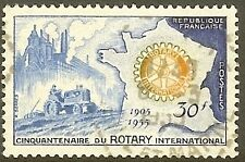 """FRANCE TIMBRE STAMP N°1009 """"ROTARY INTERNATIONAL"""" OBLITERE TB"""