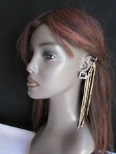 New Women Ear Cuff Earring Set Unique Sexy Gold Metal Fringe Rhinestones Chains