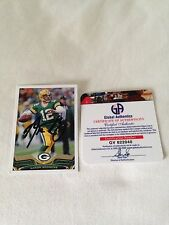 Aaron Rodgers HAND SIGNED ON CARD 2013 Topps Global Authentics COA RARE
