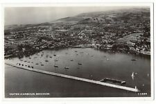 BRIXHAM Outer Harbour, Aerial View, RP Postcard by Aero Pictorial, Unused