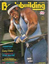 BODYBUILDING MONTHLY mag/Bertil Fox/Jim Hellwig(Ultimate Warrior)  6-85 G.B.