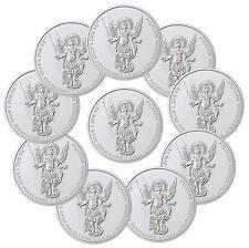 2017 Ukraine 1 oz Silver Archangel Michael -Lot of 10 Coins In Mint Cap SKU46430