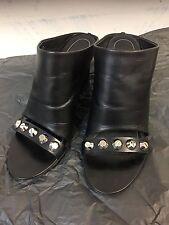 Balenciaga Glove Stud Wedge Sandals Black New Size 40