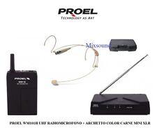 PROEL WM101H UHF RADIOMICROFONO + ARCHETTO COLOR CARNE MINI XLR MICROFONO WM 101
