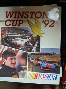 1992 UMI Nascar Hardcover Yearbook with Dust Jacket Alan Kulwicki Ford Hooters 7