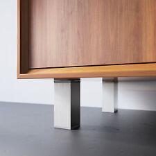 Zimmerheld Aluminium Möbelfüße MFV1 in Edelstahl Sockel Schrankfüße verstellbar